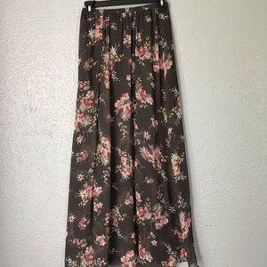 Hollister Floral Maxi Skirt